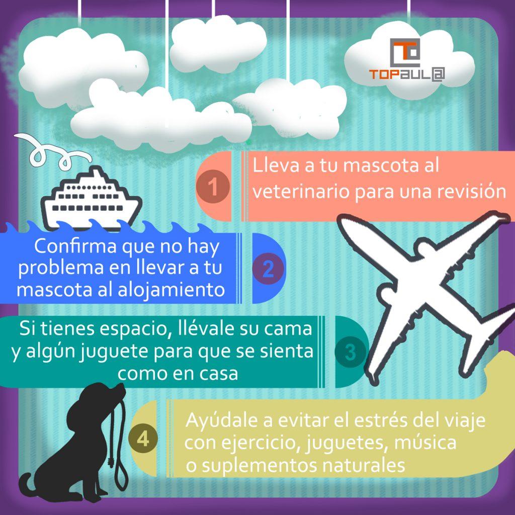 Infografía ¿Me llevo a mi mascota de vacaciones? - www.topaulasalud.com