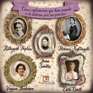 Infografía 5 enfermeras que han pasado a la historia por sus proezas - www.topaula.com