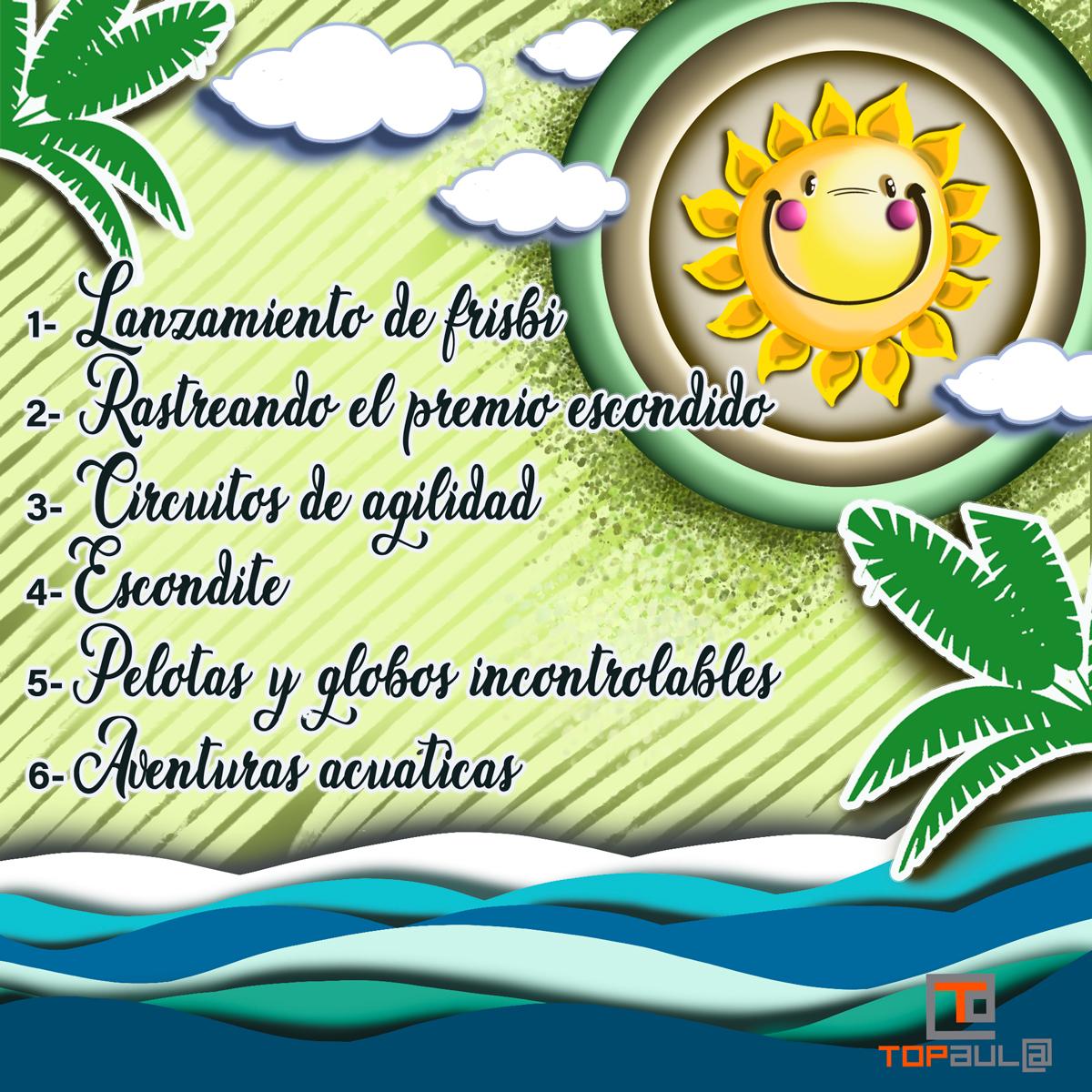 Infografía Juegos para estimular a tu perro al aire libre - www.topaula.com