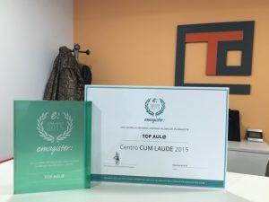 Entrega de Premio Cum Laude TOP aul@