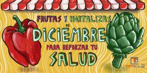 Frutas y hortalizas de diciembre para reforzar tu salud - www.topaula.com