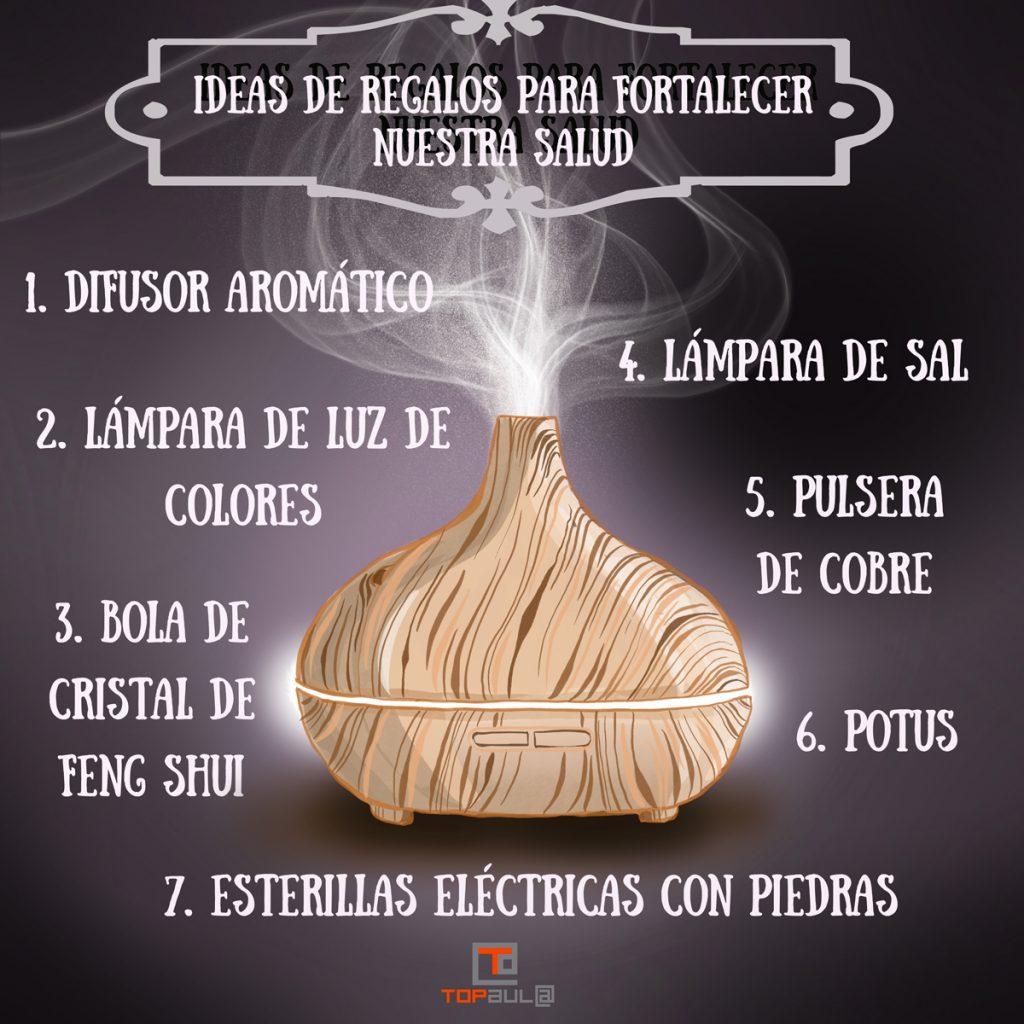 Infografía Ideas de regalos para fortalecer nuestra salud - www.topaula.com