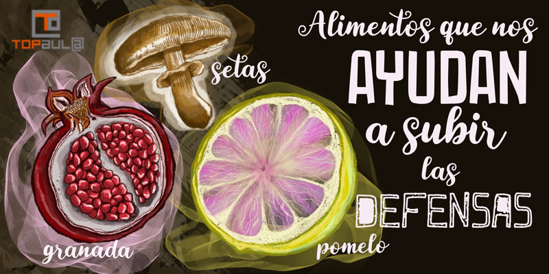 Alimentos que nos ayudan a subir las defensas - www.topaula.com