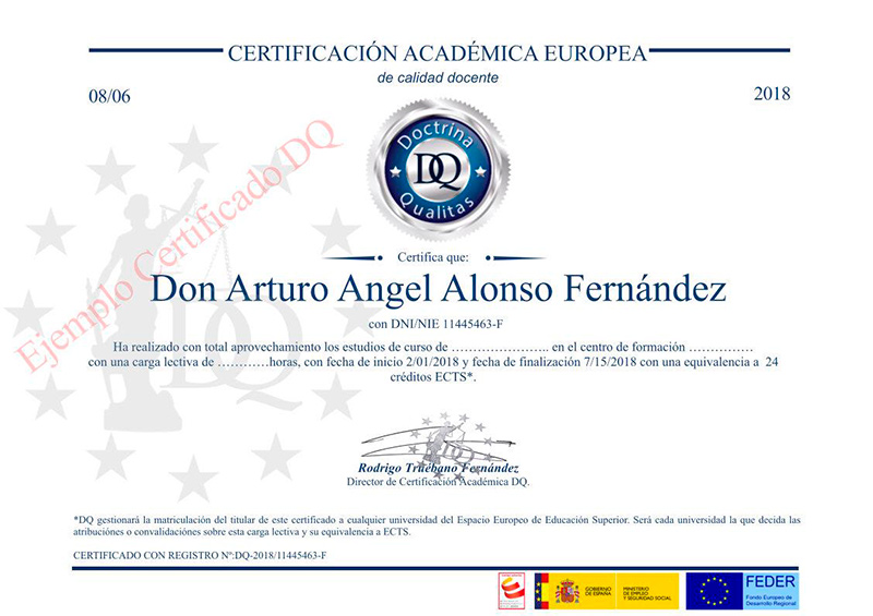 Certificado Doctrina Qualitas TOP aul@