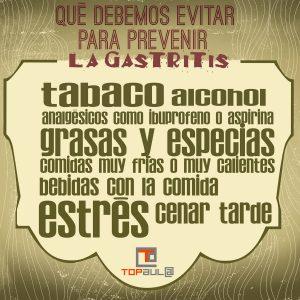 Infografía Gastritis: Qué es y cómo podemos prevenirla - www.topaula.com