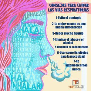 Infografía - 7 consejos de salud para cuidar las vías respiratorias - www.topaula.com