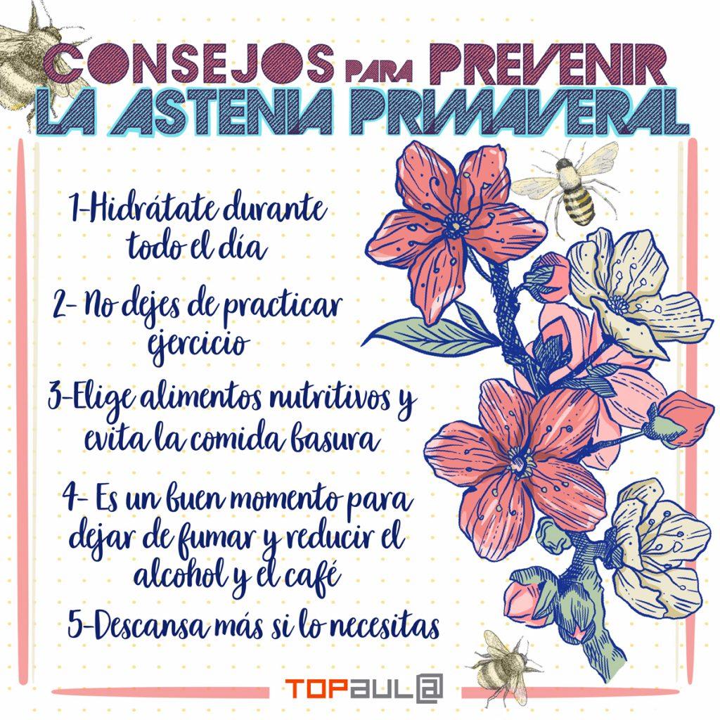 Infografía - Cómo prevenir a tiempo la astenia primaveral - www.topaula.com