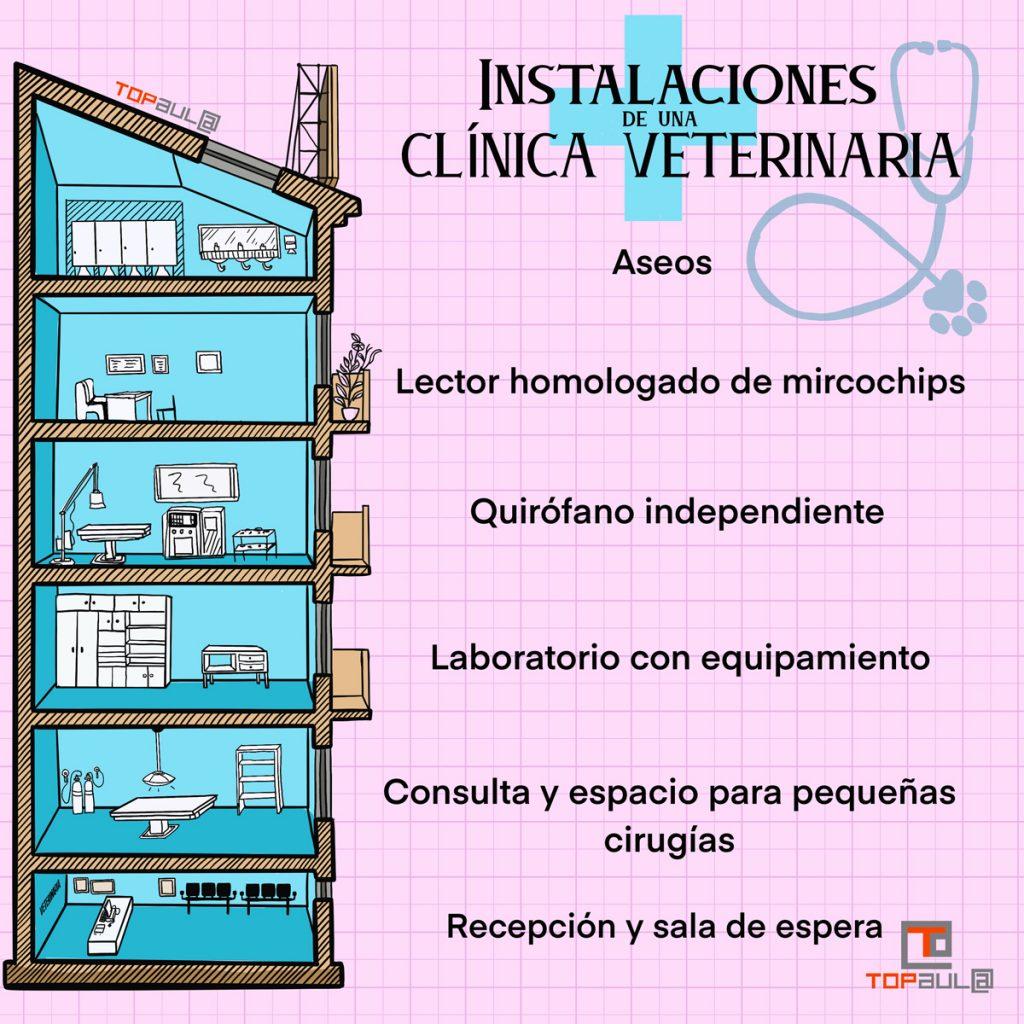 Infografía - Cuáles son los requisitos para abrir una clínica veterinaria - www.topaula.com