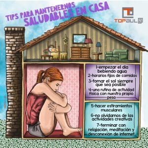 Infografía 7 Tips para mantenernos saludables en casa - www.topaula.com
